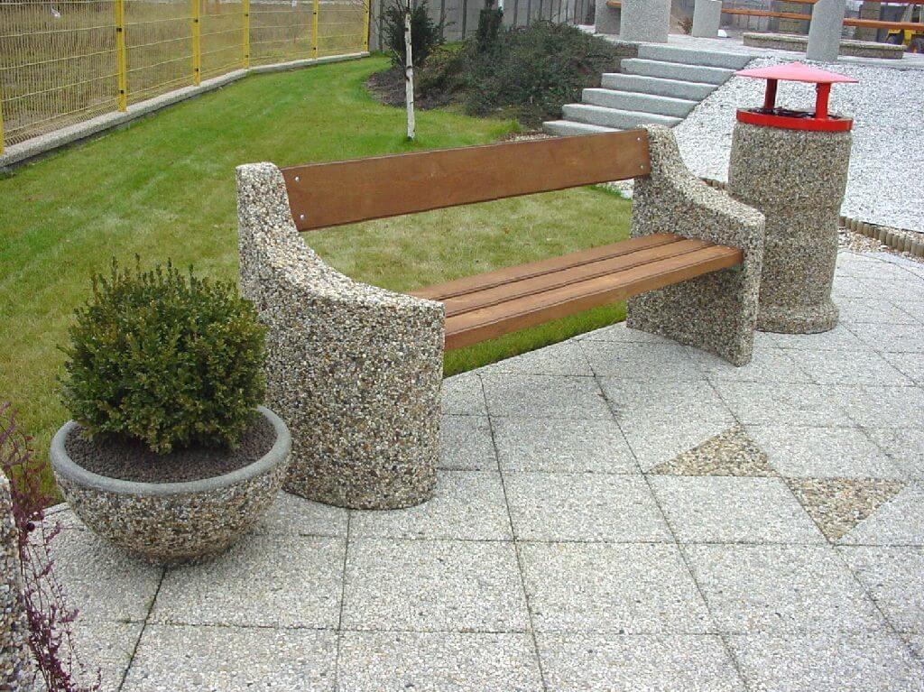 Декоративная бетонная плитка из мытого бетона от компании Базис